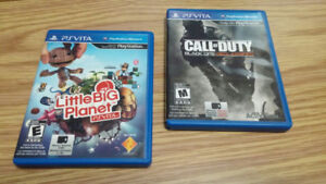 Call of Duty Black Ops Vita and Little Big Planet Vita