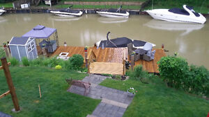 River Front with 45' Dock