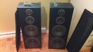 haut parleur ensemble technics 3 way speaker system 260 Watt