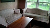 Antique Vintage French Provincial Sofa and Loveseat