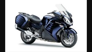 2010 kawasaki concours 1400cc . certified