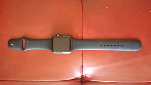 42mm Apple watch series 1 space grey with bands.