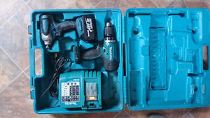 Makita Hammer Drill & Impact Drive w/ Charger, Battery, Case