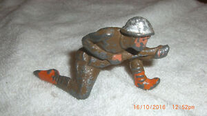 Antique Kneeling Lead Soldier with Gun