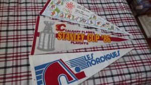 4 QUEBEC NORDIQUES COLLECTORS ITEMS PACKAGE DEAL:PENNANT,BOOK