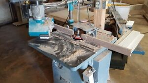 2 wood shapers and thickness sander,stroke sander, panel clamp