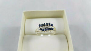 REAL Blue Sapphire Sterling Ring Size 6.75