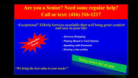 Elderly Care - Grocery Shopping/Appointments-Call (416) 316-1217