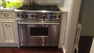 Wolf Stove, Oven and hood 4 years old, demolition sale