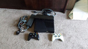 xbox 360 , konnect , cables and 2 controllers