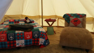 5 metre ultimate glamping canvas bell tent