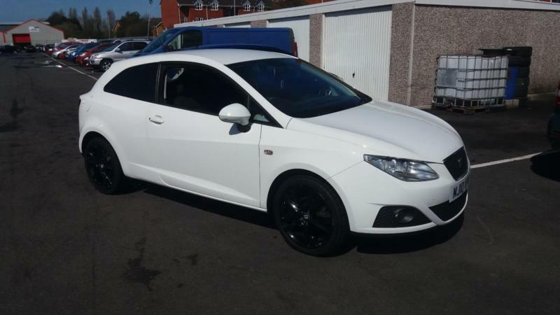 2010 10 SEAT IBIZA 1.4 16V SPORT COUPE IN WHITE.(85PS)FINANCEAVAILABLE.S/HISTORY
