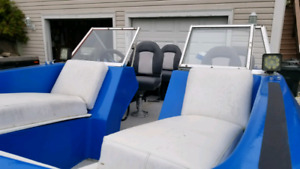 15.5 ft. Trihull Bowrider with 100hp evenrude and trailer