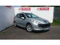 2008 57 PEUGEOT 207 SW 1.6HDi SPORT ESTATE,GREAT MPG,FSH, PANORAMIC ROOF.FINANCE