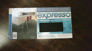 Partial Box of EXPRESSO Flooring tiles Charcoal color