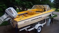 15 foot Vanguard Boat with 1988 DT65 Suzuki outboard.