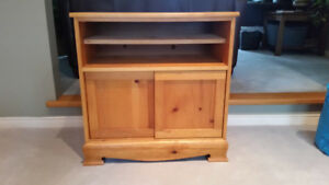 Solid Pine Cabinet With Sliding Doors - Used