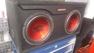 Deux sub mtx 10 pouces avec ampli pioneer