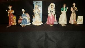 AVON Mrs. Albee Porcelin Dolls and Pins