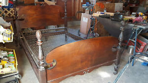 1957 antique acorn post double bed /old style spring