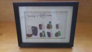 Seaglass framed picture