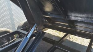dump trailers 6x10  with 2x 5000 lbs axle brake 3000$ extra firm