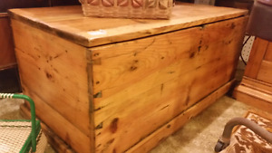 antique pine blanket box 249