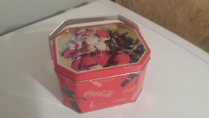 Vintage Metal Coca-Cola Santa Can