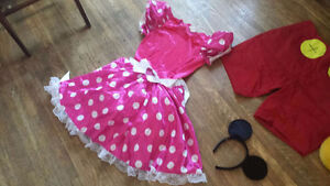 MICKEY & MINNIE MOUSE COSTUMES SZ LARGE $10