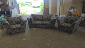 Sofa plus two arm chairs. Bargin