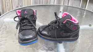 Baby Jordans high tops black and pink