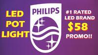 PHILIPS® BEST-QUALITY-EVER INDOOR/OUTDOOR POT LIGHT FROM $58