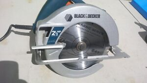 "Black and Decker 2 &1/3 HP 7 1/4 "" Circular Saw with New Blade"