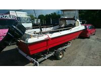 Wilson Flyer Fishing Boat with Trailer!!