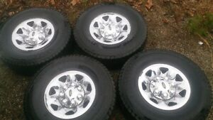 RARE Original Ford 7 Lug Chrome Rims