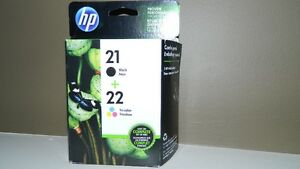 NEW Toner HP 21 Black & 22 Tri-Color $40.00 or BO
