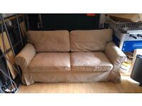 Beige Fabric Sofa Bed / Settee / Couch