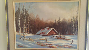 Two Pundleider, V. Heinz Oil On Canvas Original Paintings