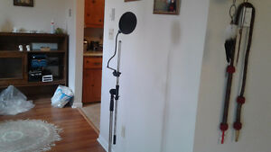 New microphone stand and shield for sale