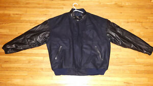 Men's genuine leather size XL fall jacket