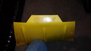 Belly pan protector for Skidoo ZX chassis