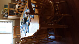 Solid Oak Mennonite  dining table /6 chairs