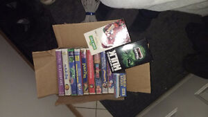 Approx 40 vhs and dvd some never viewed disney etc.
