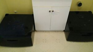 Laundry pedestals-  set of two- navy