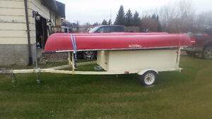 2 Canoes with Expandable Trailer