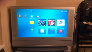 HD Sony TV + Glass TV Stand + Video Converter