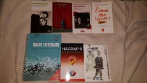 Livres et romans divers - utilisés pour cours collégiaux