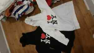 Hoody and jumper size age 3-5 . Pants age 3-4