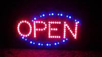 Animated LED Open Sign Red & Blue (used)