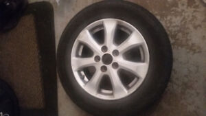 4 Michelin 215/60R15 summer tires with rims